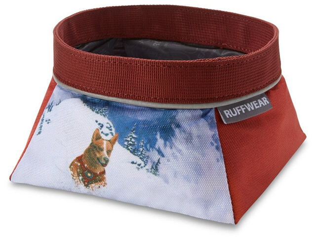 Ruffwear Artist Series Quencher Cuenco, rojo/blanco